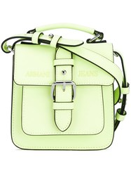 Armani Jeans Single Buckle Satchel Women Polyester Polyurethane One Size Green