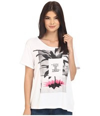 Bench City Of Trees Short Sleeve Top Bright White Women's Short Sleeve Pullover