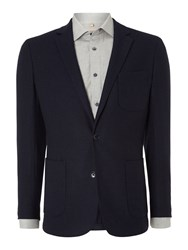 Richard James Men's Mayfair Contemporary Knitted Jacket Navy