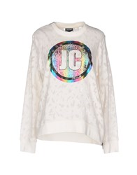 Just Cavalli Sweatshirts White