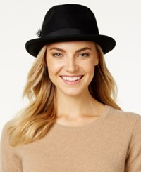 Nine West Felt Porkpie Fedora Black
