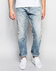Jack And Jones Jack And Jones Anti Fit Jeans With Panels Light Blue