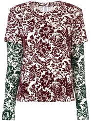 Rosie Assoulin Floral Print Layered Sweatshirt Multicolour