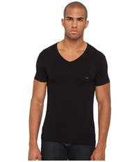 Emporio Armani Stretch Cotton V Neck Tee Black Men's Underwear