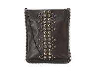 Leather Rock Cell Pouch Crossbody Black Hemonite Grey Bags