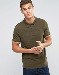 Asos Muscle Fit Polo Shirt With Logo In Baleric Avocado Green