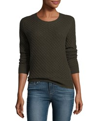 Paige Estelle Cable Knit Sweater Army