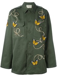Night Market Butterfly Military Jacket Green