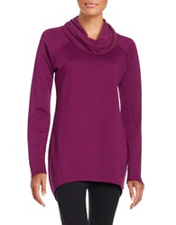 Marc New York Knit Cowlneck Tunic Ripe Fig
