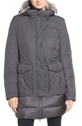 The North Face Women's Tuvu Water Repellent Parka With Faux Fur Trim Graphite Grey