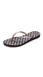 Havaianas Slim Fresh Polka Dot Flip Flops Black Rose Gold