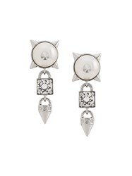 Dsquared2 Embellished Earrings Silver