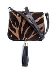 Xaa Animal Print Bag Black