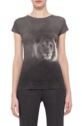 Women's Akris Lion Print Stretch Cotton Jersey Tee