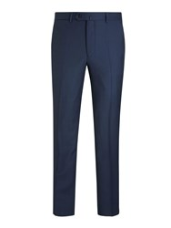 Hackett London Birdseye Slim Fit Suit Trousers Navy