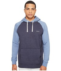 Huf Dalton Pullover Hooded Knit Light Blue Navy Men's Sweatshirt