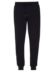 Moncler Slim Leg Cotton Jersey Track Pants Navy