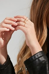 Urban Outfitters Essential Stacking Ring Set Gold