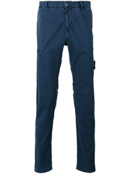 Stone Island Tapered Cargo Trousers Blue
