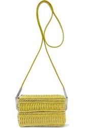 Rick Owens Woman Micro Adri Brushed Leather Shoulder Bag Yellow