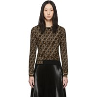 Fendi Brown Knit Forever Sweater