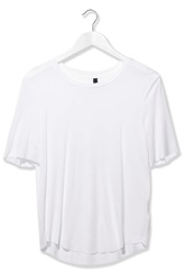 Premium Raw Edge Tee By Boutique White