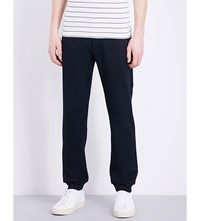 Armani Collezioni Skinny Mid Rise Tracksuit Trousers Navy