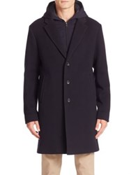 Vince Wool Blend Coat Navy