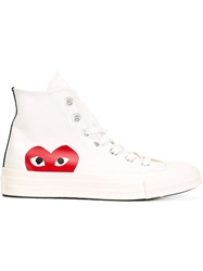 Comme Des Garcons Play Converse 'Chuck Taylor' Sneakers White