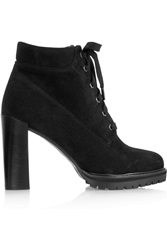 Karl Lagerfeld Lace Up Suede Ankle Boots