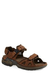 Men's Allrounder By Mephisto 'Alligator' Sandal Brown
