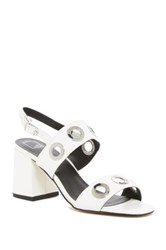 14Th And Union Gillian Sandal White Faux Leather