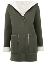 Osklen Double Knit Coat Green