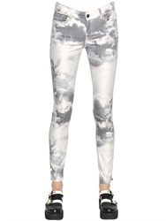 Karl Lagerfeld Printed Stretch Cotton Denim Jeans