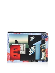 Raf Simons Photo Montage Print Leather Document Holder