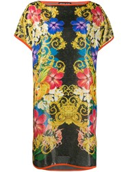 Versace Jeans Couture Barocco Floral Print T Shirt Dress 60