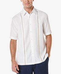 Cubavera Men's Contrast Stitch Short Sleeve Shirt Bright White