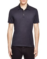 John Varvatos Collection Striped Slim Fit Polo Midnight