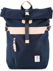 As2ov Folded Top Buckle Backpack Men Nylon One Size Blue