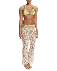 Maaji Wonderful Day Lace Beach Pants Natural