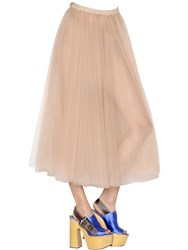 Rochas Sheer Tulle Midi Skirt