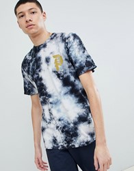 Primitive Bleach Wash T Shirt With Large Back Print In Black