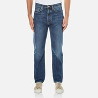 Edwin Men's Ed 45 Loose Tapered Red Listed Selvedge Jeans Mid Sleet Wash Blue