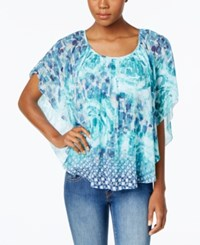 Jm Collection Printed Butterfly Sleeve Top Only At Macy's Immortal Debut