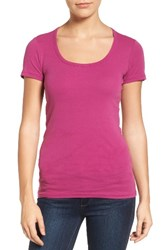 Caslonr Women's Caslon Short Sleeve Scoop Neck Tee Purple Vintner