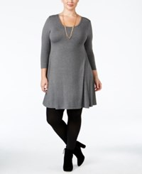 Styleandco. Style Co. Plus Size Swing Dress Only At Macy's Steel Grey Heather
