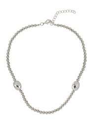 Mikey Twin Crystal Oval Bead Necklace