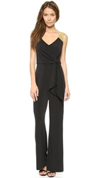 5Th And Mercer Sleeveless Jumpsuit Black Gold