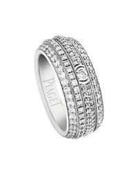 Piaget Possession Full Pave Diamond Band Ring In 18K White Gold