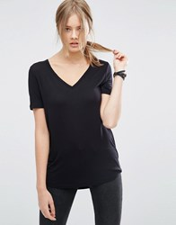 Asos Tall The New Forever T Shirt With Dip Back Black